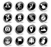 Jour d'ensemble d'icône de skouts Photographie stock