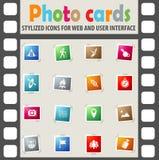 Jour d'ensemble d'icône de skouts Images stock