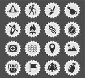 Jour d'ensemble d'icône de skouts Photo libre de droits