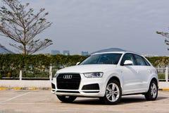 Jour d'entraînement d'essai d'Audi Q3 30 TFSI 2017 Images libres de droits