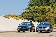Jour d'entraînement d'essai de BMW 5-Series 2017 photographie stock