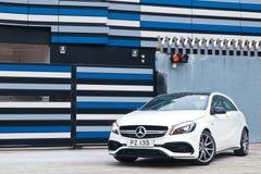 Jour d'entraînement d'essai de Mercedes-Benz A45 AMG 2016 Image libre de droits