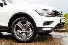 Jour d'entraînement d'essai de Volkswagen Tiguan 2016 Photos libres de droits