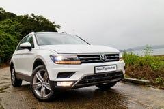 Jour d'entraînement d'essai de Volkswagen Tiguan 2016 Photos stock
