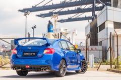 Jour d'entraînement d'essai de STI 2017 de Subaru WRX Photographie stock libre de droits