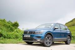 Jour d'entraînement d'essai de Volkswagen Tiguan 2018 photographie stock