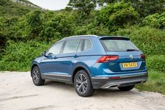 Jour d'entraînement d'essai de Volkswagen Tiguan 2018 image stock