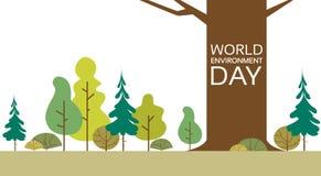 Jour d'environnement du monde Forest Nature Landscape Tree Image libre de droits