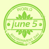 Jour d'environnement du monde Logo Stamp Icon Photos stock