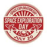 Jour d'exploration d'espace, le 20 juillet illustration stock