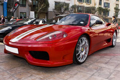 Jour d'exposition de Ferrari - 360 contestent Stradale Images stock