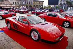 Jour d'exposition de Ferrari - Testarossa Photo stock