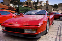 Jour d'exposition de Ferrari - Testarossa - avant Photo stock