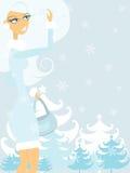 Jour d'hiver illustration libre de droits
