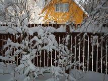 Jour d'hiver dans la campagne photo libre de droits