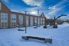 Jour d'hiver ensoleillé à Lahti, la Finlande Photo stock