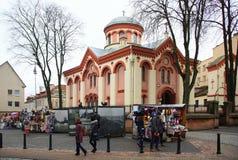Jour d'hiver et l'église au nom du martyre saint Paraskeva Pyatnitsa photo stock