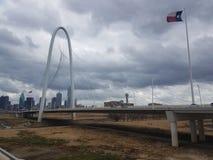 Jour d'hiver sombre de Dallas photo libre de droits