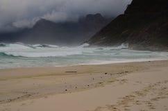 Jour d'hiver sur la plage Photos libres de droits
