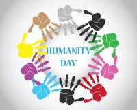 Jour d'humanité du monde Images libres de droits