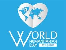 Jour d'humanitaire du monde illustration stock