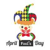 Jour d'imbéciles d'avril avec le joker Images stock