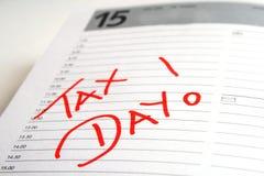 Jour d'impôts Photographie stock libre de droits