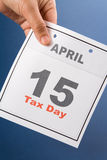 Jour d'impôts de calendrier Images stock