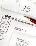 Jour d'impôts - verticale Photographie stock libre de droits