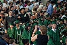 Jour d'obtention d'un diplôme d'études secondaires de ressort, Houston Images stock