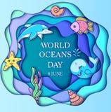 Jour d'océan du monde Image stock