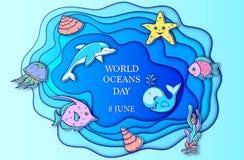 Jour d'océan du monde Photographie stock