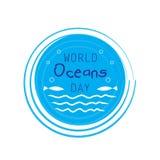 Jour d'océans du monde illustration stock