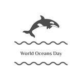 Jour d'océans du monde photo stock