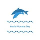 Jour d'océans du monde Images stock