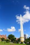 Jour d'oiseau bleu en parc à Yangon Images libres de droits