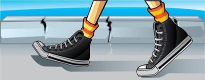 Jour d'opérations de chaussures en caoutchouc Images libres de droits