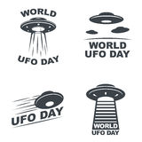 Jour d'UFO du monde illustration stock