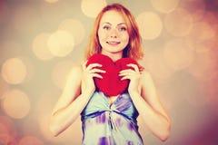 Jour de attente du ` s de Valentine de femme Photos stock