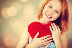Jour de attente du ` s de Valentine de femme Photo libre de droits