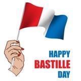 Jour de bastille heureux ! Photos stock