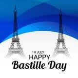 Jour de bastille heureux Photographie stock