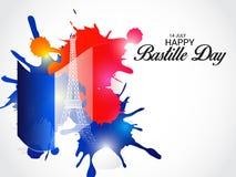 Jour de bastille heureux Image libre de droits