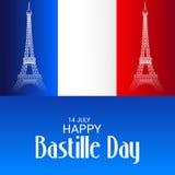 Jour de bastille heureux Photo stock