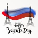 Jour de bastille heureux Image stock