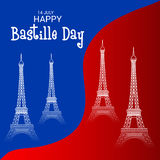 Jour de bastille heureux Photos libres de droits