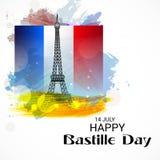 Jour de bastille heureux Photo libre de droits