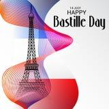 Jour de bastille heureux Photographie stock libre de droits