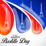 Jour de bastille heureux Images libres de droits