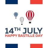 Jour de bastille 14 juillet paris tourisme Tour Eiffel france Conception plate moderne Image stock